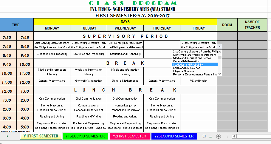 Sample High School Class Schedule Unique Bulletin Download Templates and Samples Of E tool for Shs