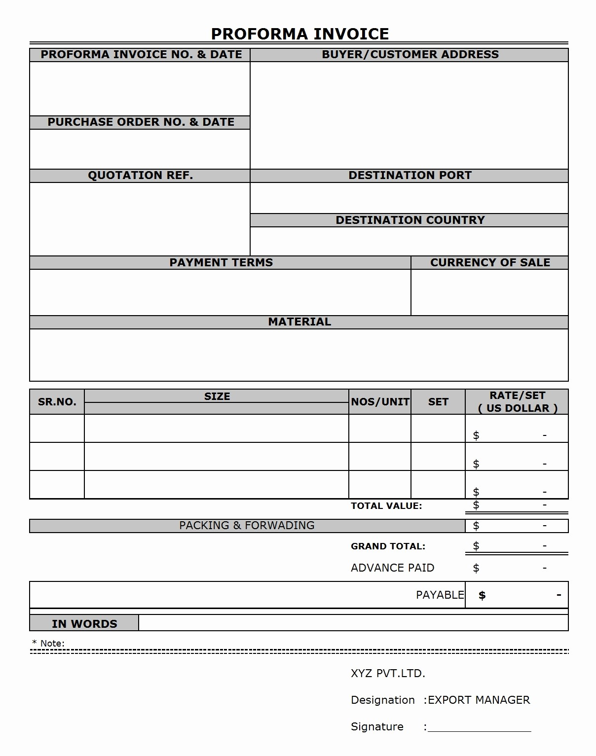 Sample Invoice format In Excel Beautiful Proforma Invoice Sample Excel Invoice Template Ideas