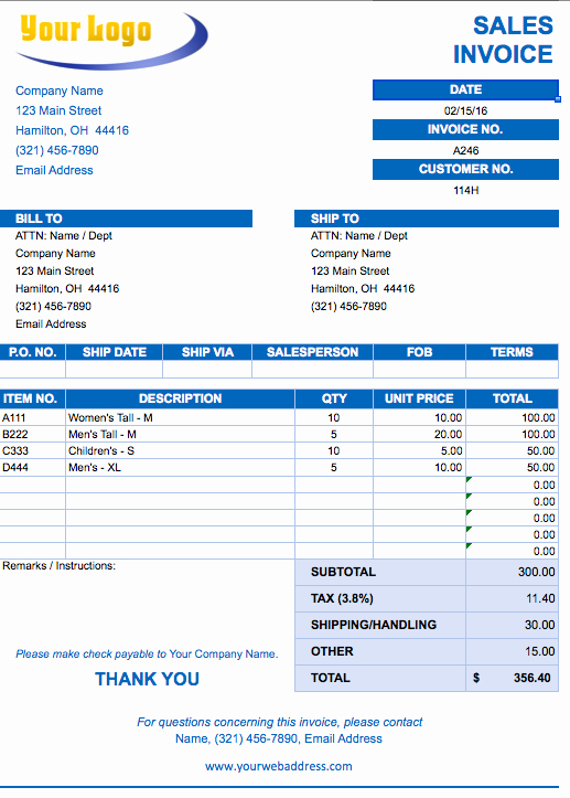 Sample Invoice format In Excel Beautiful Sales Invoice Template Excel Free Download