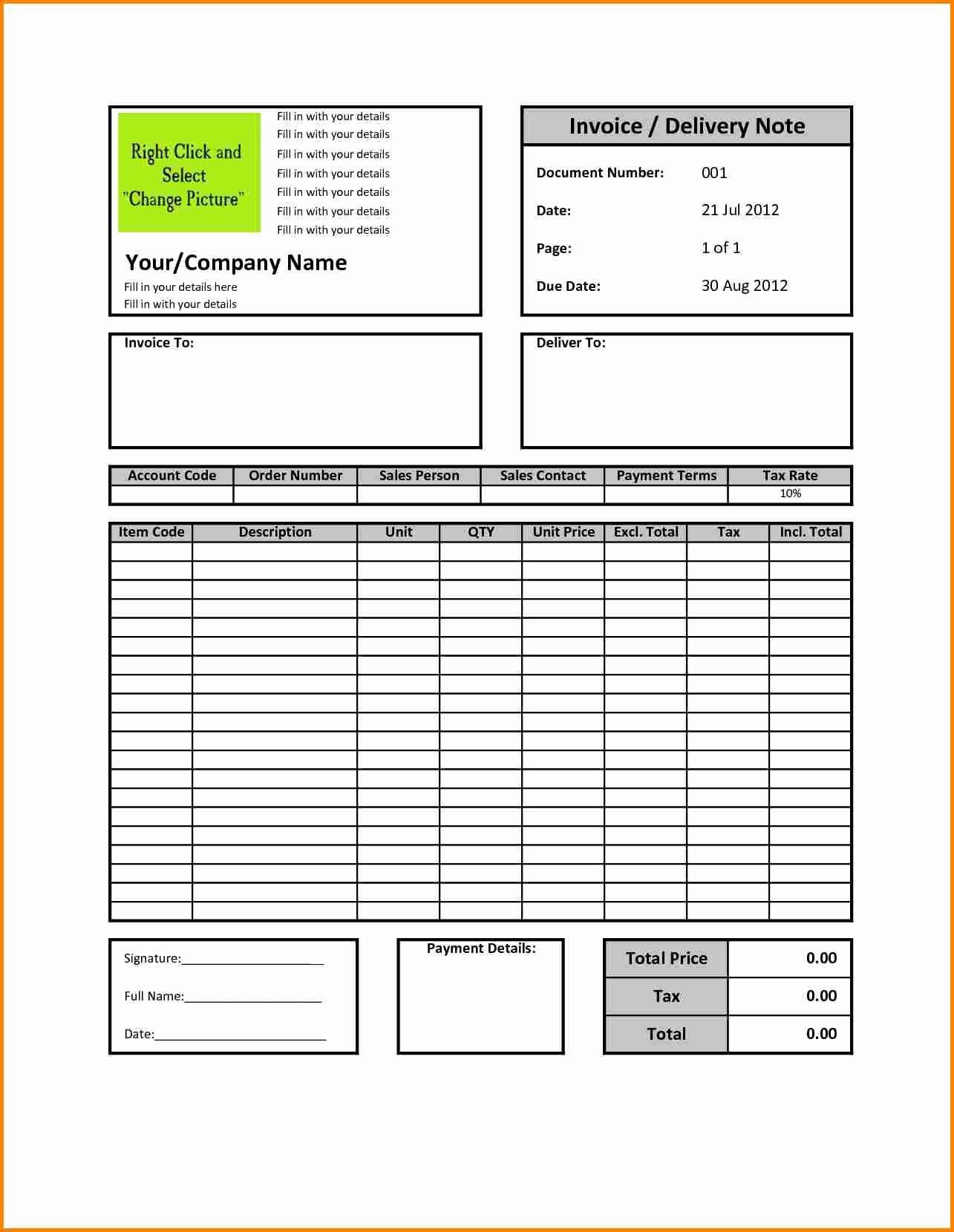Sample Invoice format In Excel Inspirational 5 How to Make Bill format In Excel