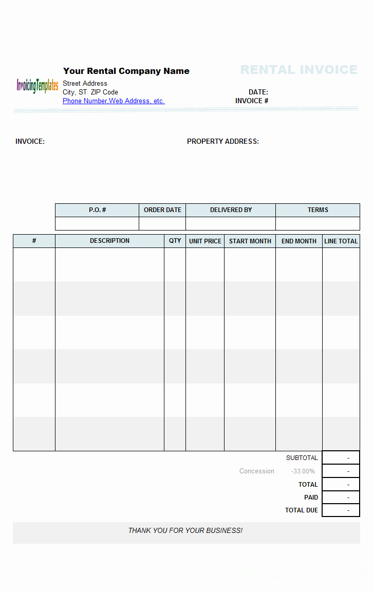 Sample Invoice format In Excel Luxury Rental Invoice Template Excel