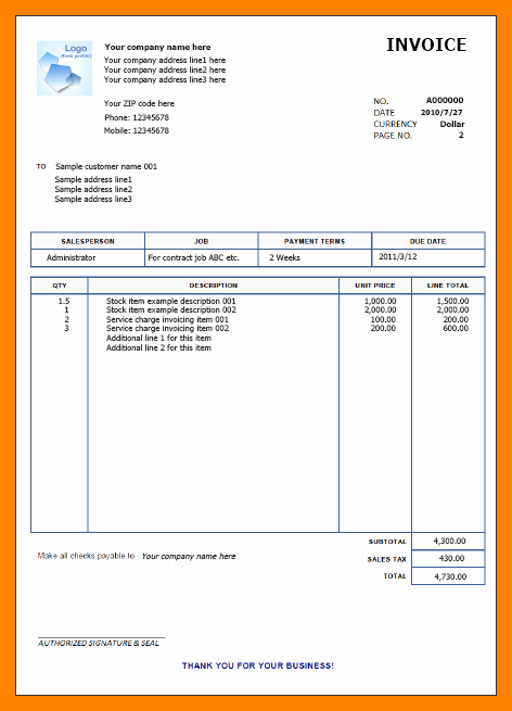 Sample Invoices for Small Business Beautiful 7 Free Of Charge Invoice