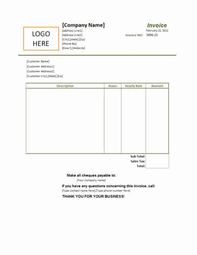 Sample Invoices for Small Business Luxury 25 Free Service Invoice Templates [billing In Word and Excel]