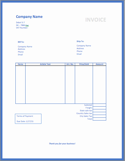 Sample Invoices for Small Business New Free Invoice Template Cake Ideas and Designs