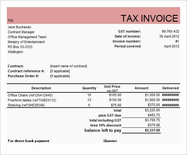 Sample Invoices for Small Business Unique Business forms Invoice Templates Free