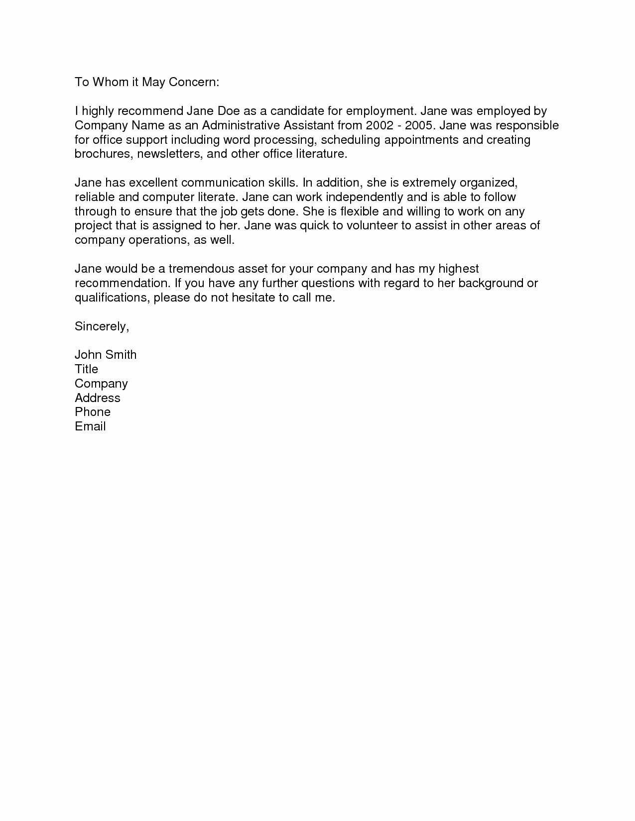 Sample Letter Of Recommendation Employee Awesome Portablegasgrillweber All About Best Resume Experience