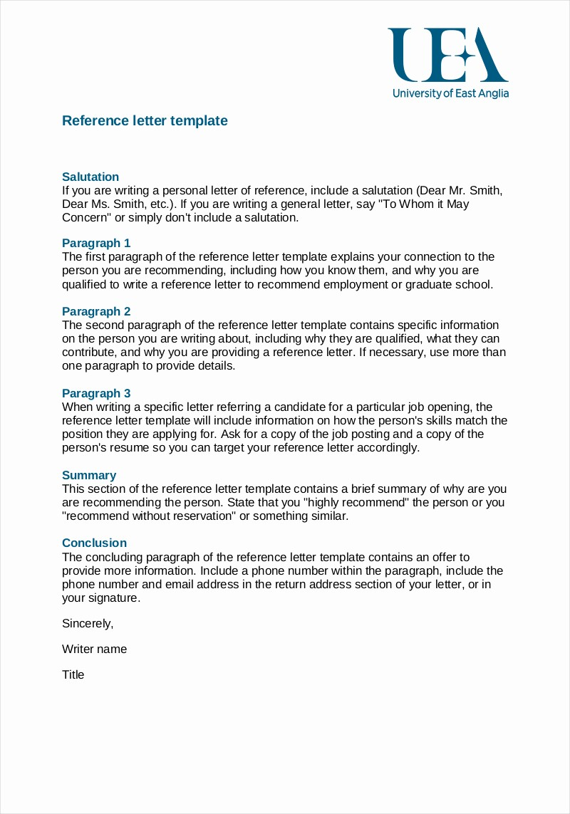 Sample Letter Of Recommendation Employee Unique Basic Re Mendation Letter Template Collection