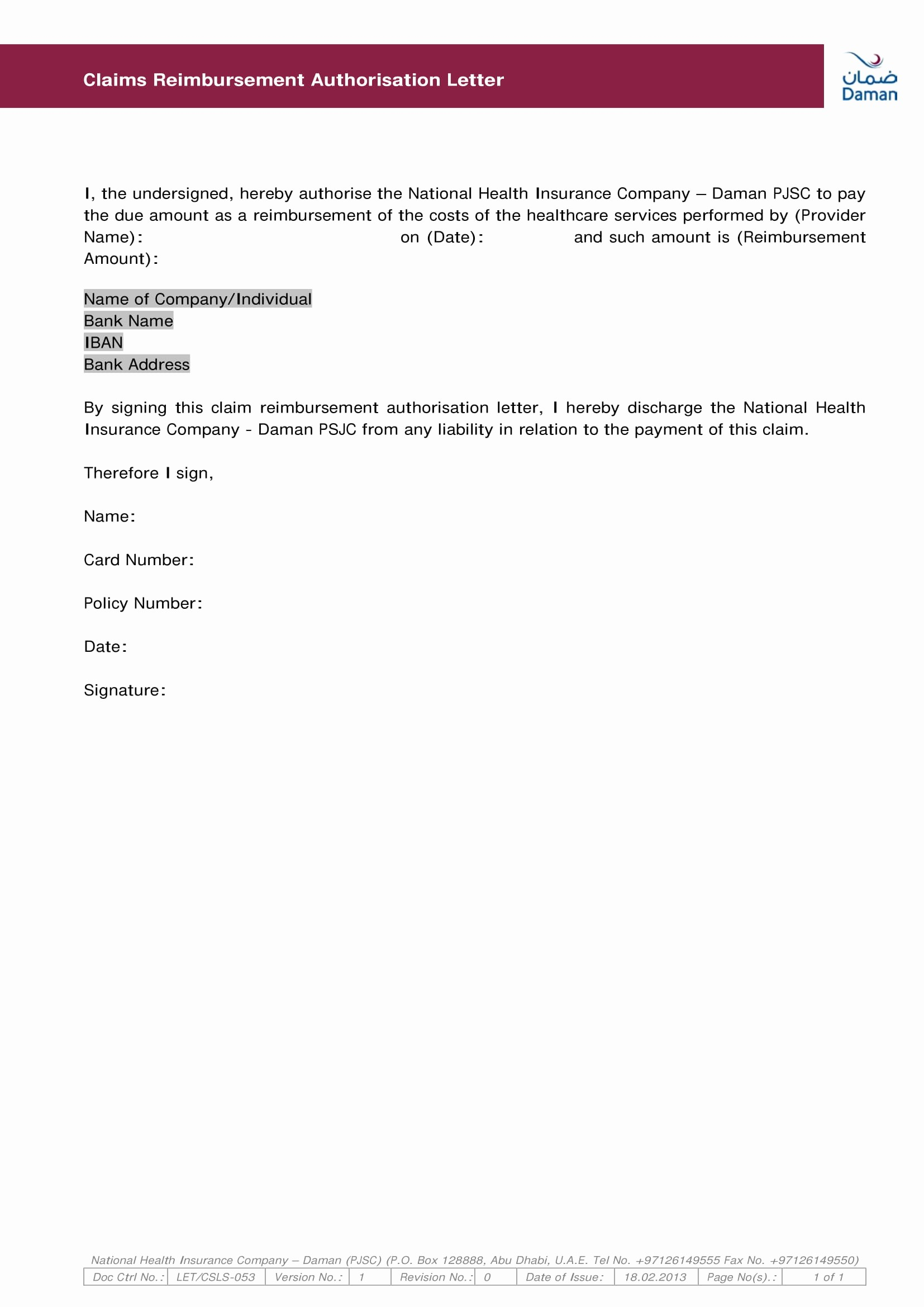 Sample Letter Of Reimbursement Money Best Of 9 Authorization Letter to Claim Examples