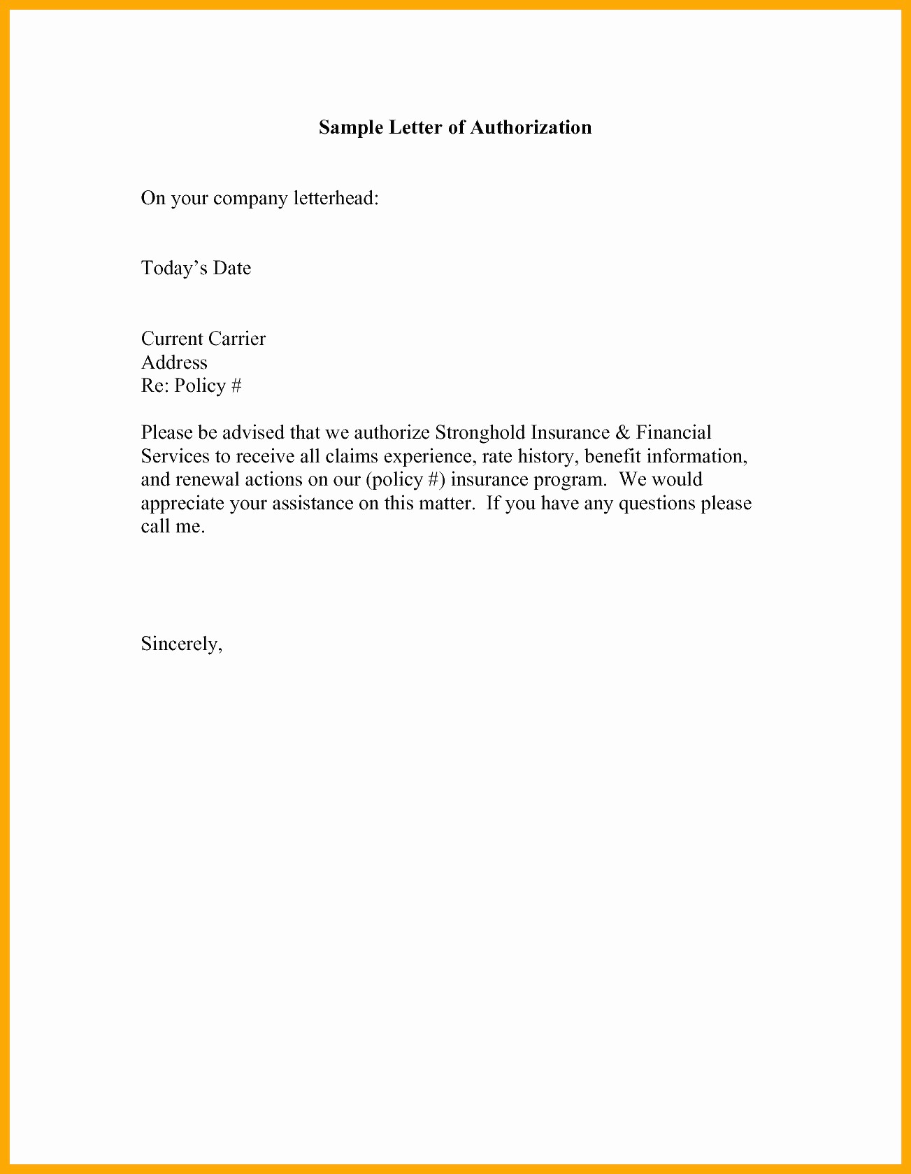 Sample Letter Of Reimbursement Money Best Of Authorization Letter to Claim Money 5 Discover China townsf
