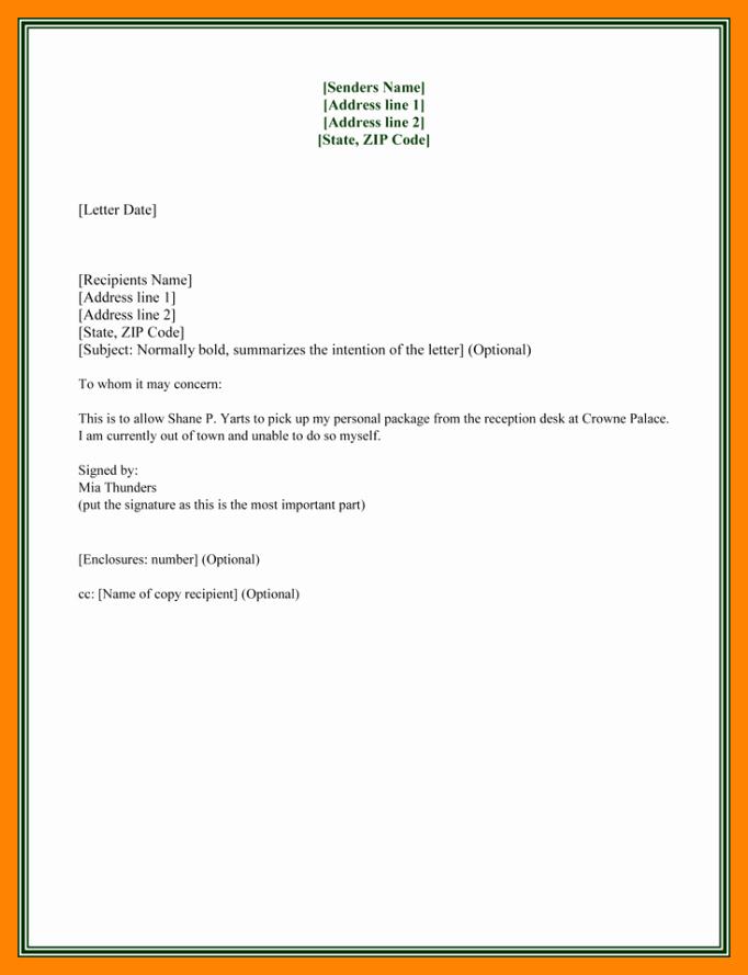 Sample Letter Of Reimbursement Money Fresh Authorization Letter Sample for Claiming Money Fresh 10