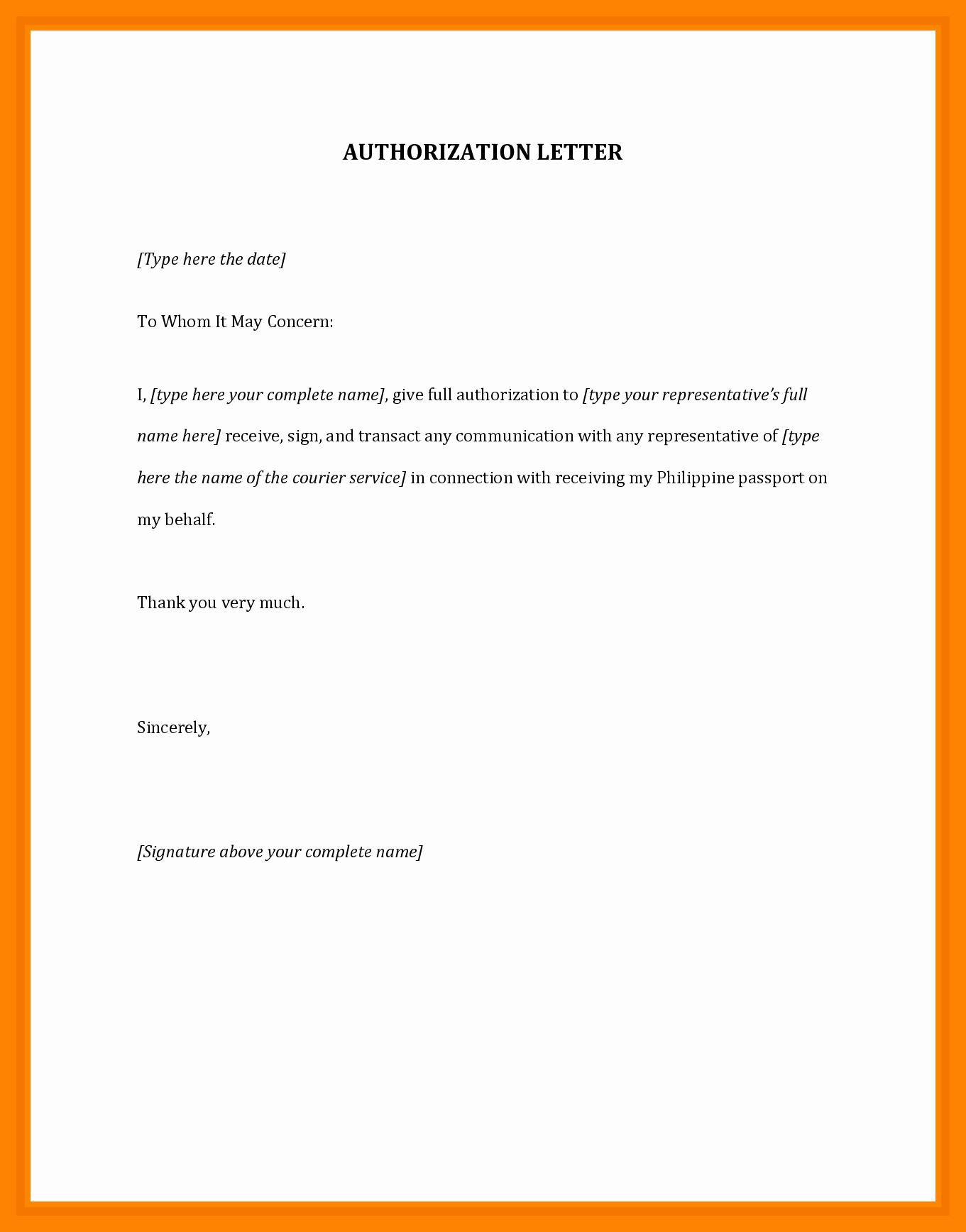 Sample Letter Of Reimbursement Money Luxury 12 Authorization Letter Sample for Claiming Money