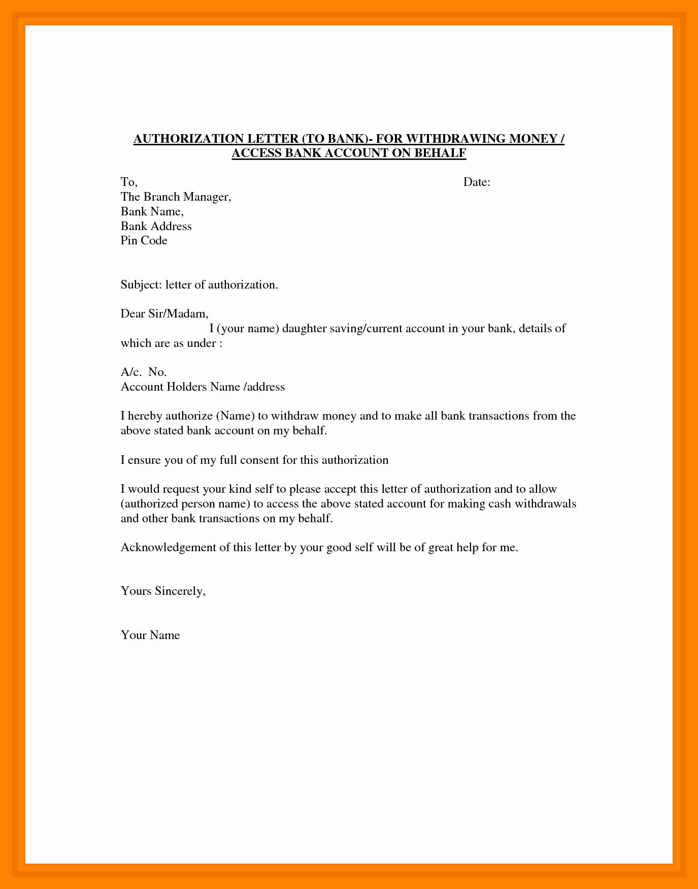 Sample Letter Of Reimbursement Money Luxury Authorization Letter to Claim Money Example