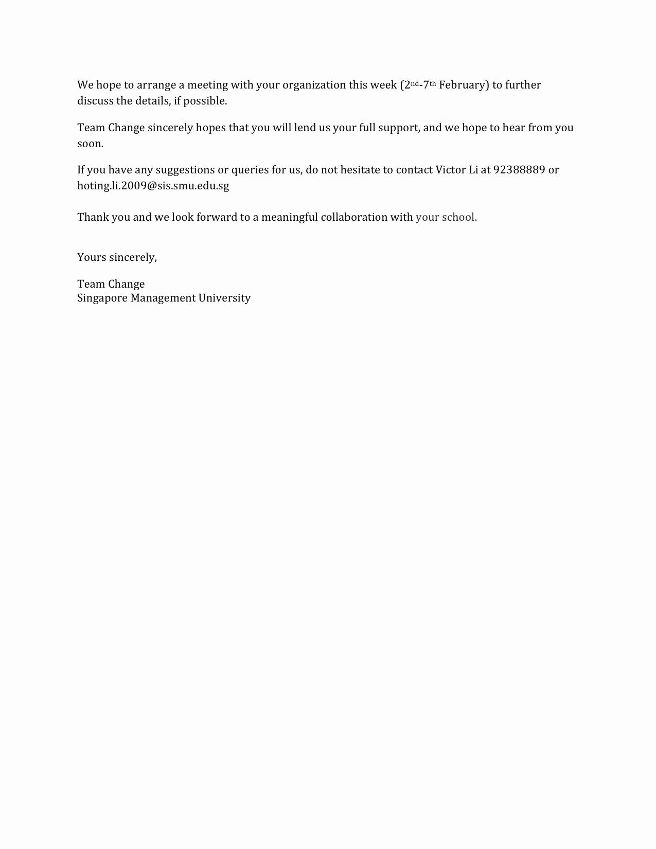 Sample Letter Of Reimbursement Money Luxury Letter Of Intent to Greendale Secondary School
