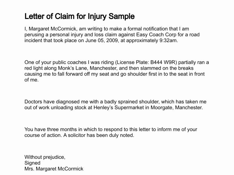 Sample Letter Of Reimbursement Money Unique Letter Of Claim