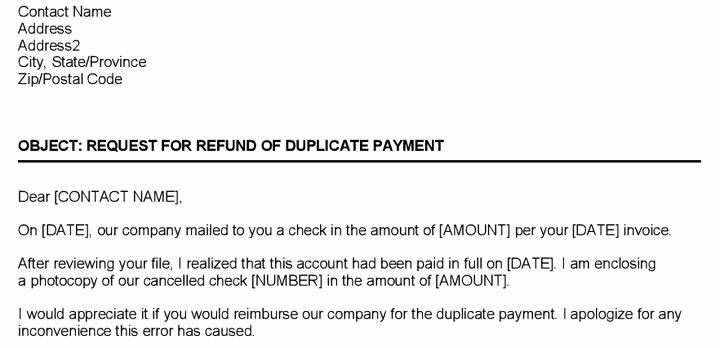 Sample Letter Of Reimbursement Money Unique Refund Request Letter Template format Word