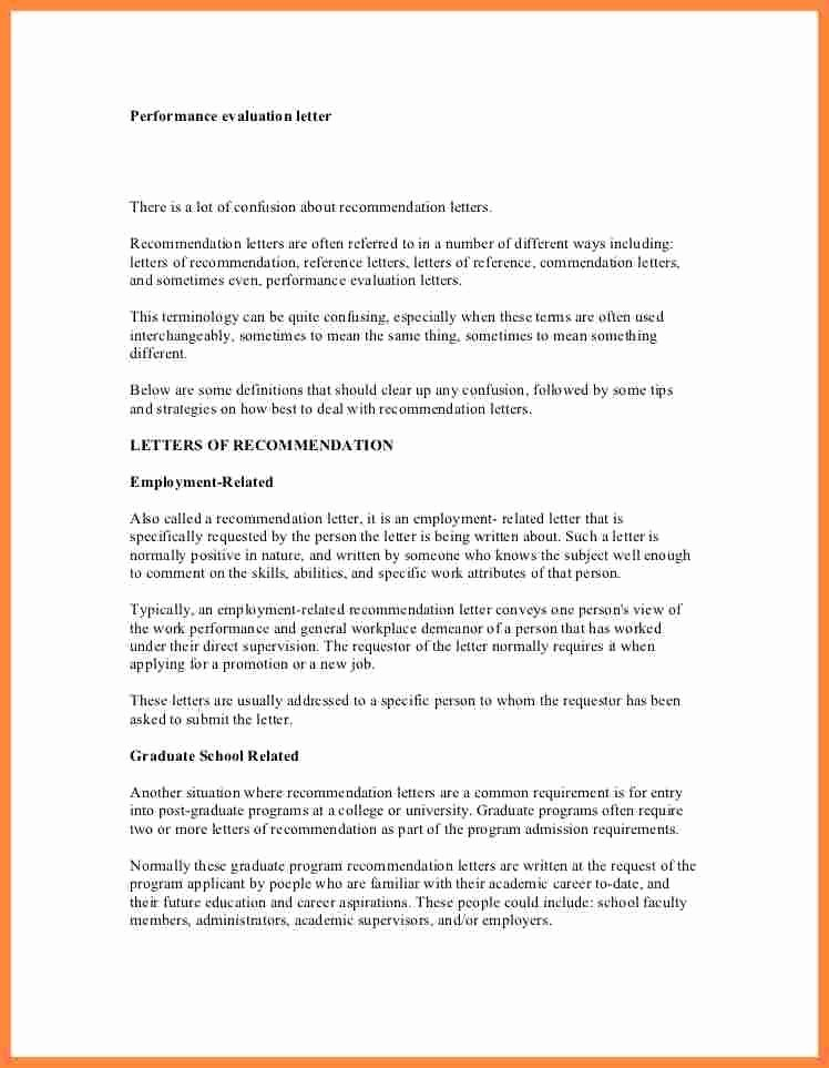 Sample Letters Of Recommendation Employee Elegant Sample Re Mendation Letter Employee Performance