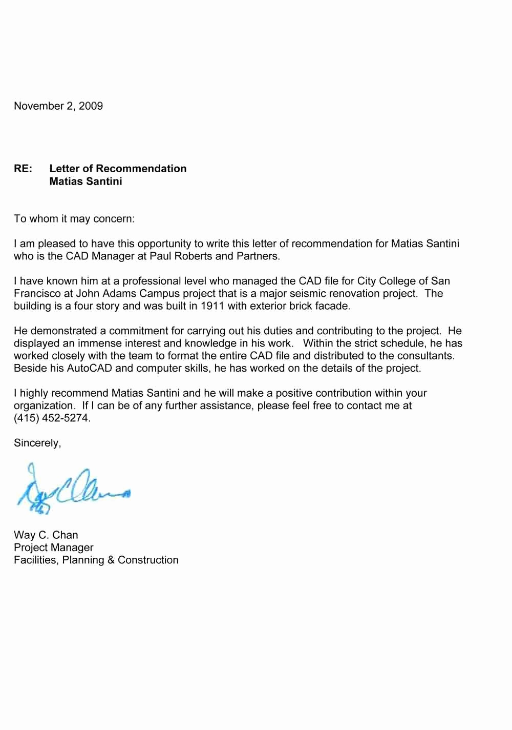Sample Letters Of Recommendation Employee Unique Re Mendation Letter – Templates Free Printable