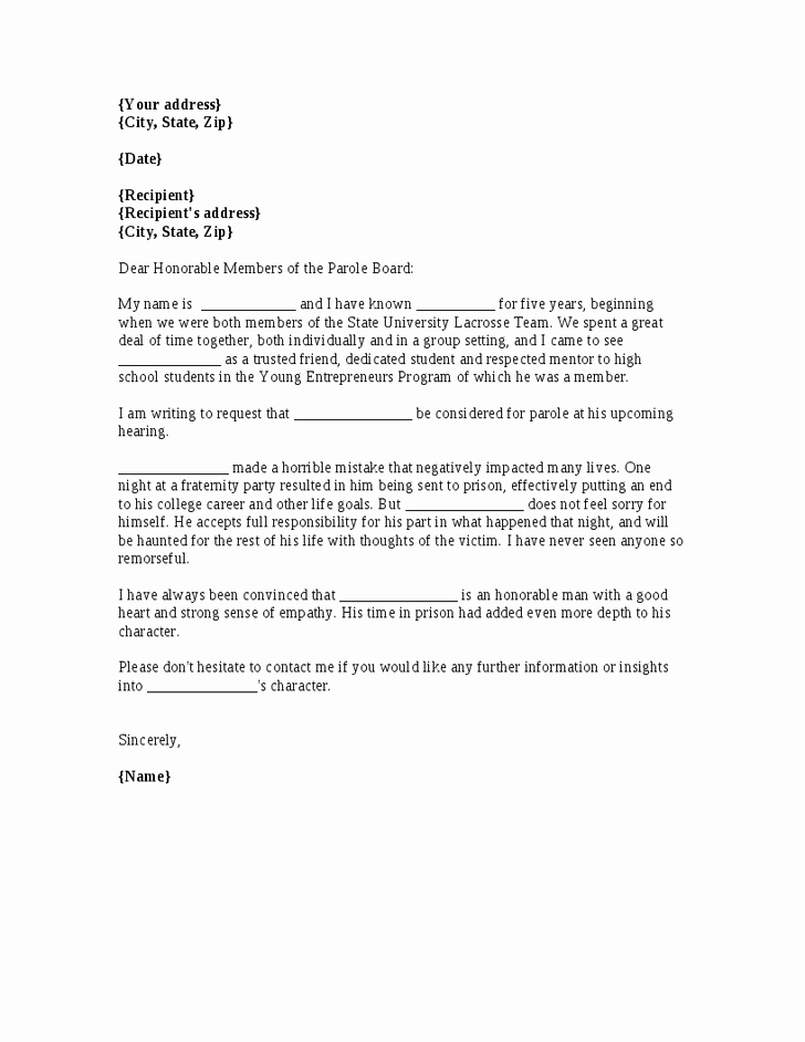 Sample Letters to Board Members Beautiful Sample Letter for Parole Board Cover Letter Samples