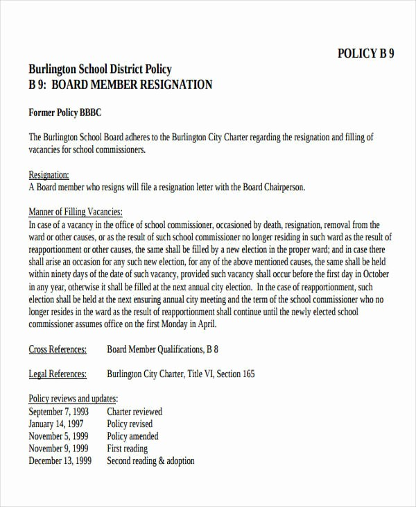 Sample Letters to Board Members Best Of 7 Sample School Resignation Letters