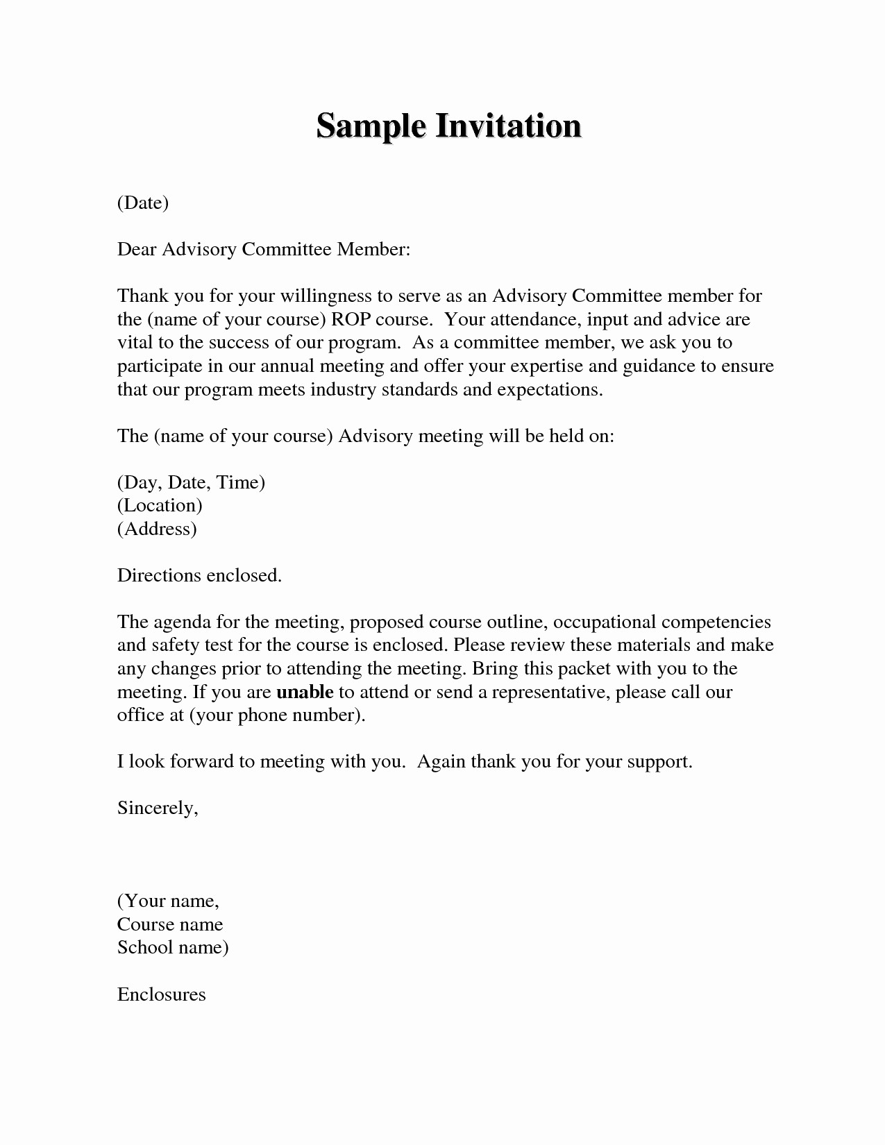 Sample Letters to Board Members Best Of Board Member Invitation Letter Template Samples