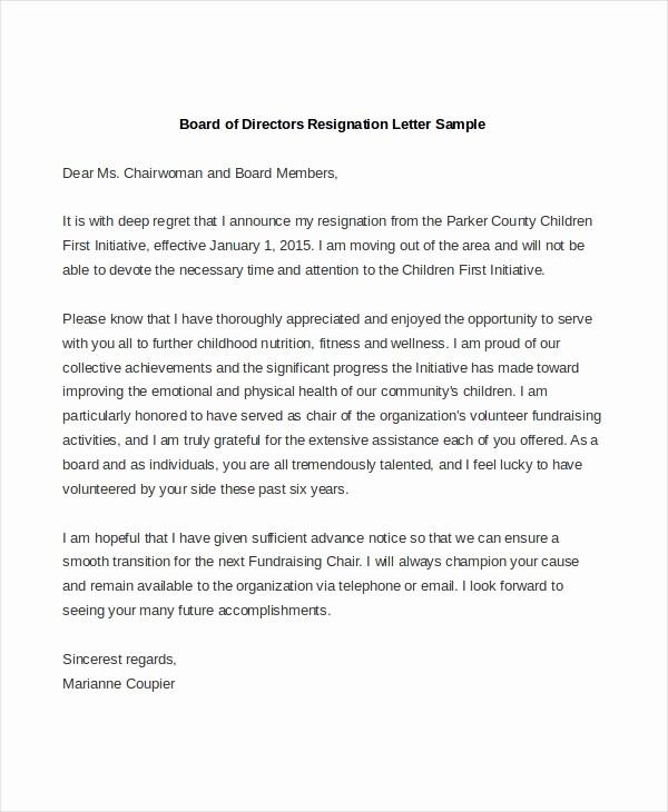 Sample Letters to Board Members Fresh Board Member Resignation Letter Sample Sarahepps
