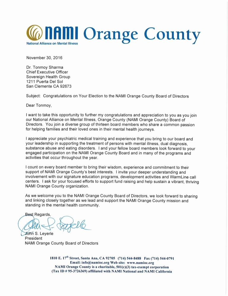 Sample Letters to Board Members Lovely Nami Board Of Directors Letter