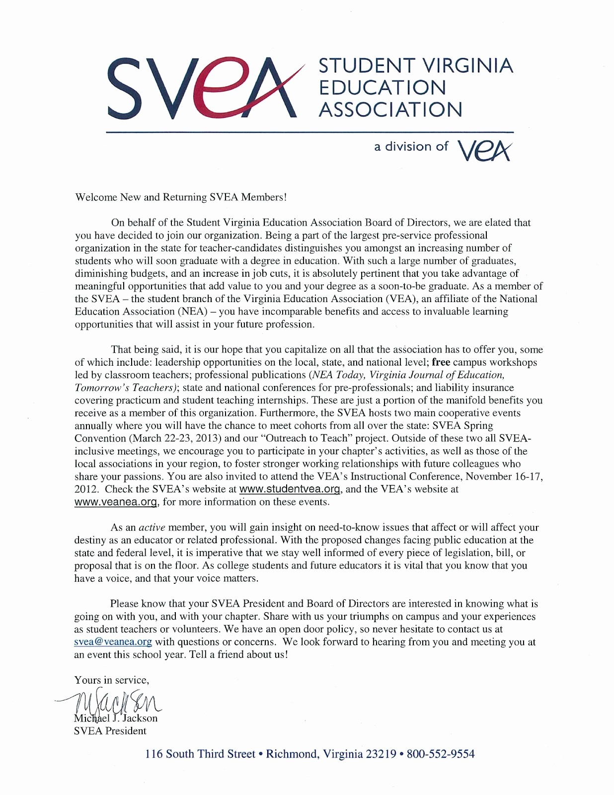 Sample Letters to Board Members Luxury Student Virginia Education association Wel E Letter