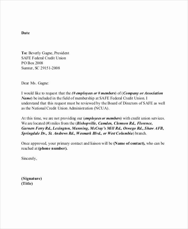 Sample Letters to Board Members New 13 Sample Membership Application Letters Pdf Word