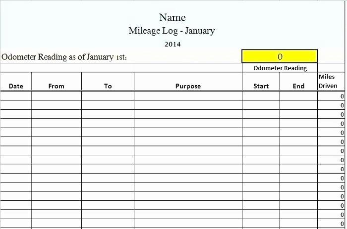 Sample Mileage Log for Taxes Elegant Mileage Log Sheet Printable Mileage Log Template Mileage