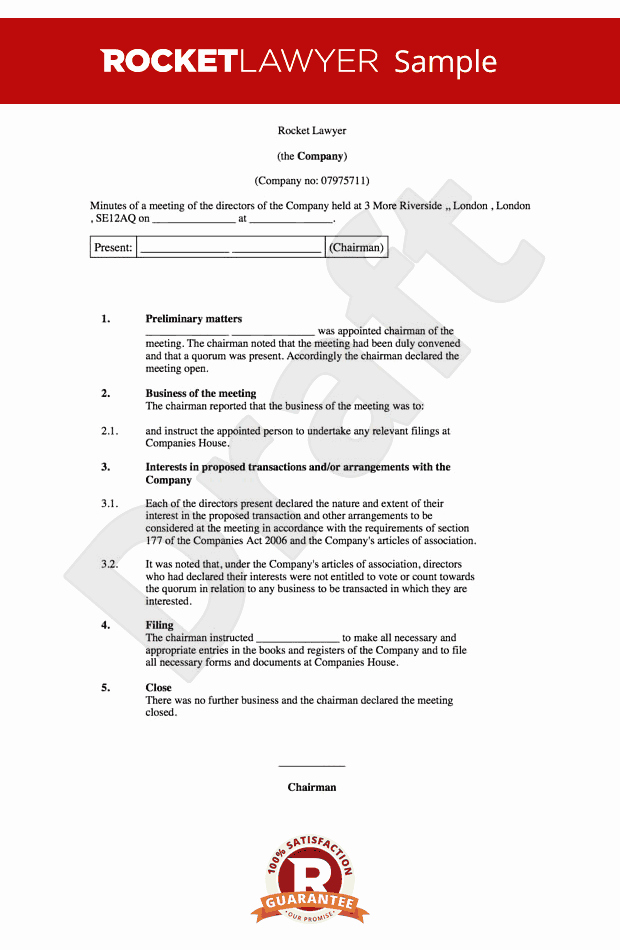 Sample Minute Of Meeting Template New Board Minutes Template Sample Board Meeting Agenda