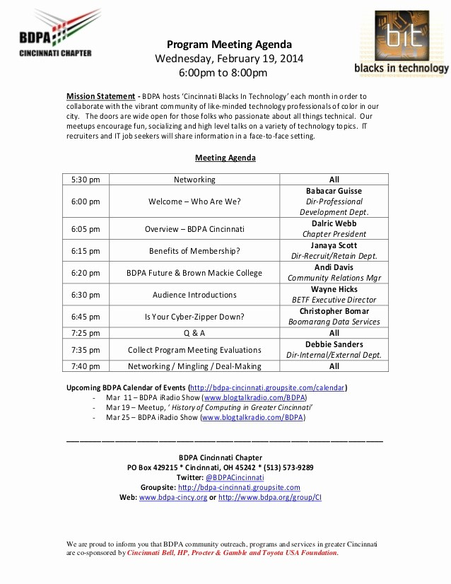 Sample Minutes for A Meeting Elegant Agenda Program Meeting Sample