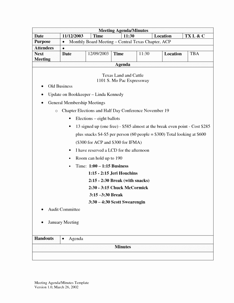 Sample Minutes for A Meeting New Agenda Word Template Example Mughals
