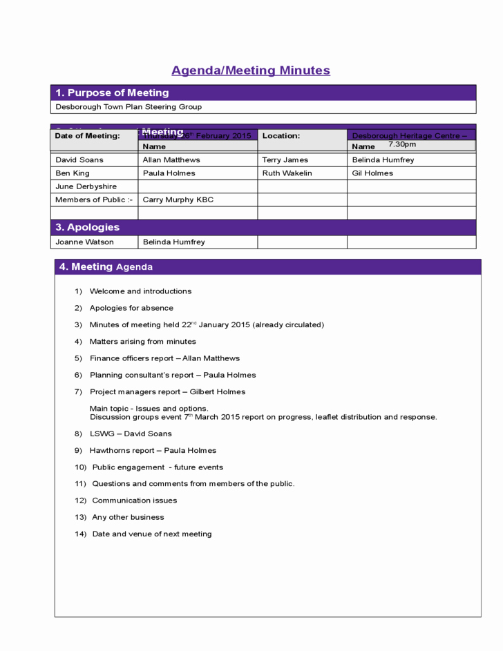Sample Minutes Of Meeting Template Beautiful Construction Template Project Meeting Minutes Template
