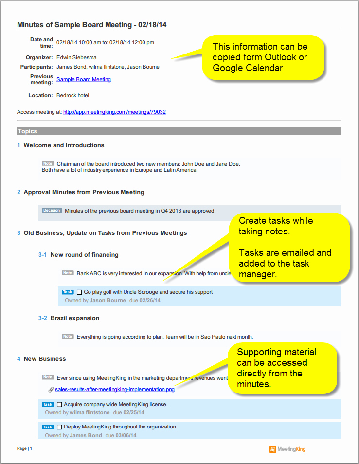 Sample Minutes Of Meeting Template Best Of Sample Board Meeting Minutes Template