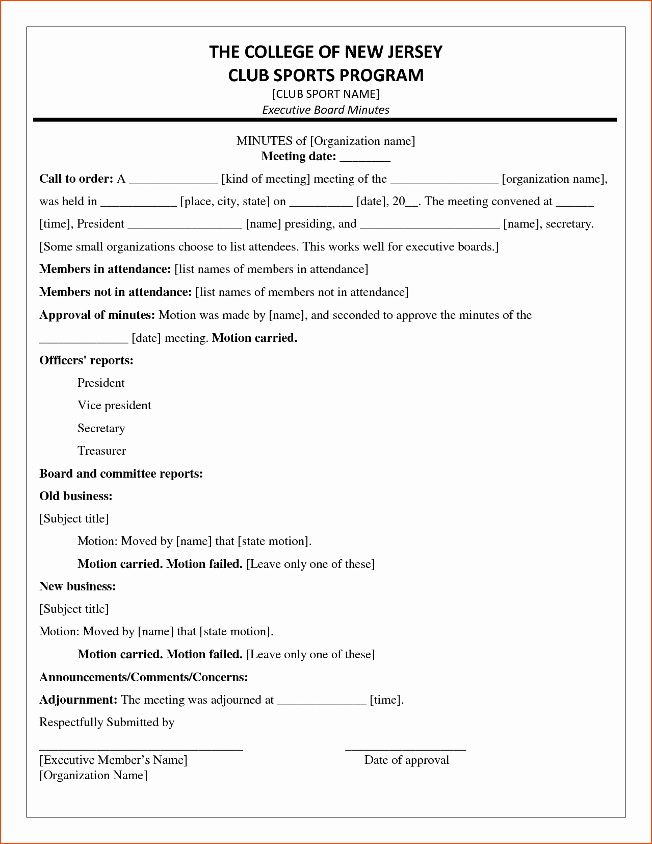 Sample Minutes Of Meeting Template Inspirational 6 Minutes Of the Meeting Template Bookletemplate