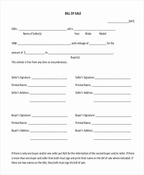 Sample Motorcycle Bill Of Sale Elegant Sample Motorcycle Bill Of Sale form 7 Free Documents In