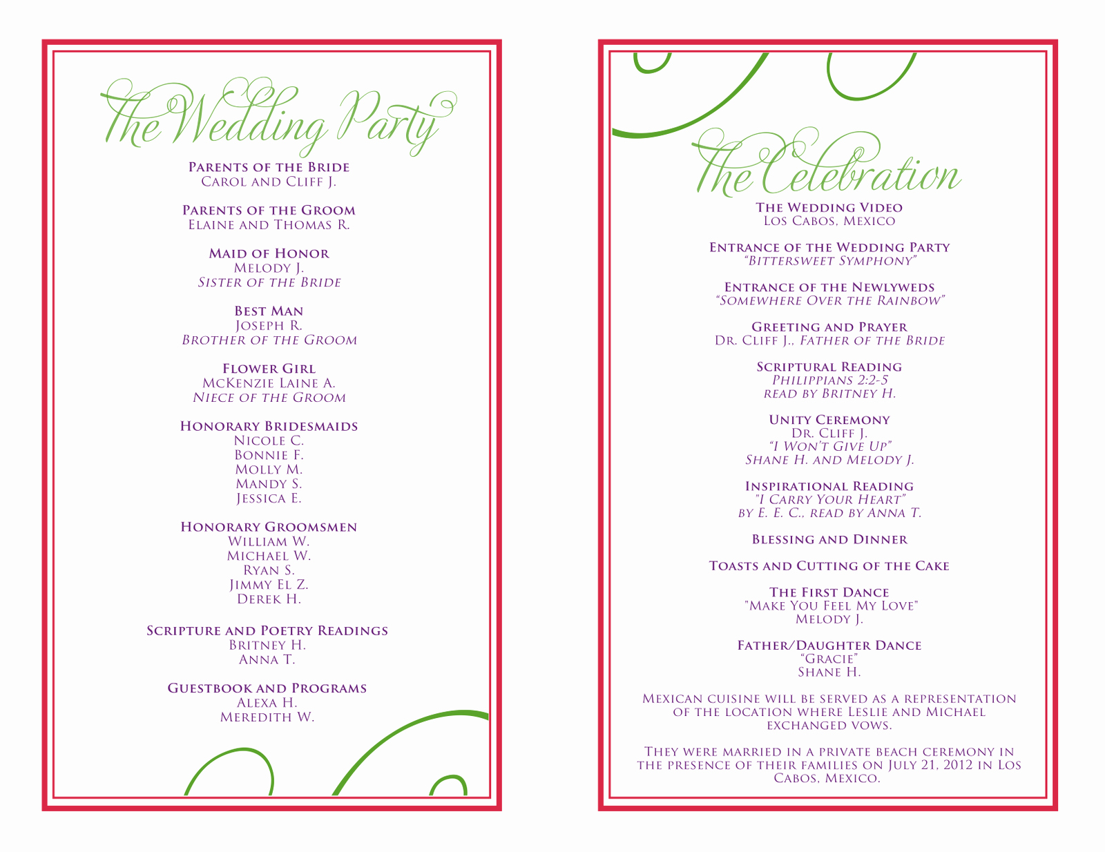 Sample Of A event Program Best Of Birthday Party Program Template Impremedia