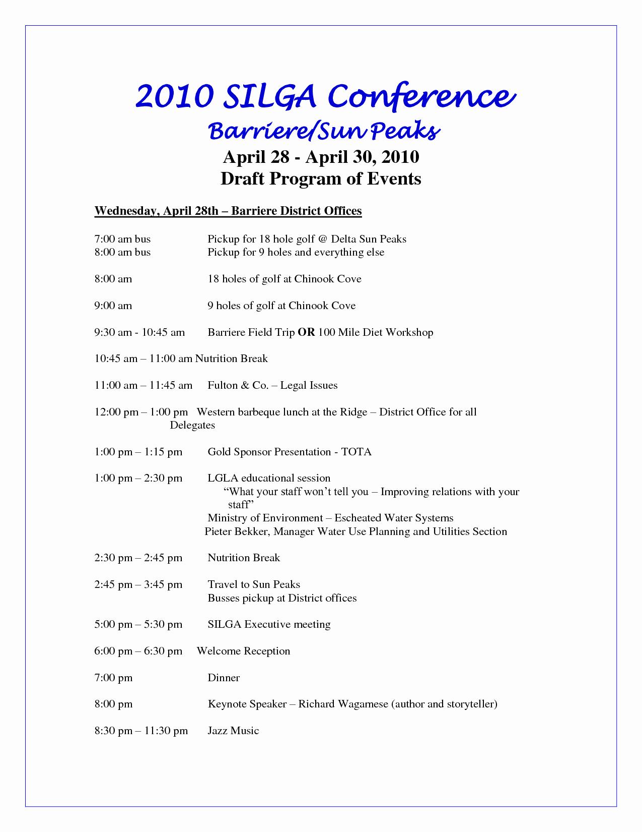Sample Of A event Program Best Of event Program Template
