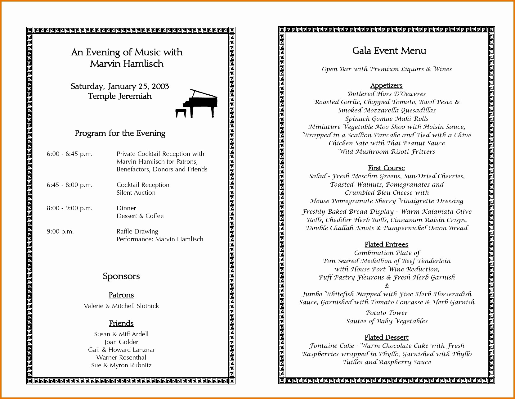 Sample Of A event Program Fresh event Program Template