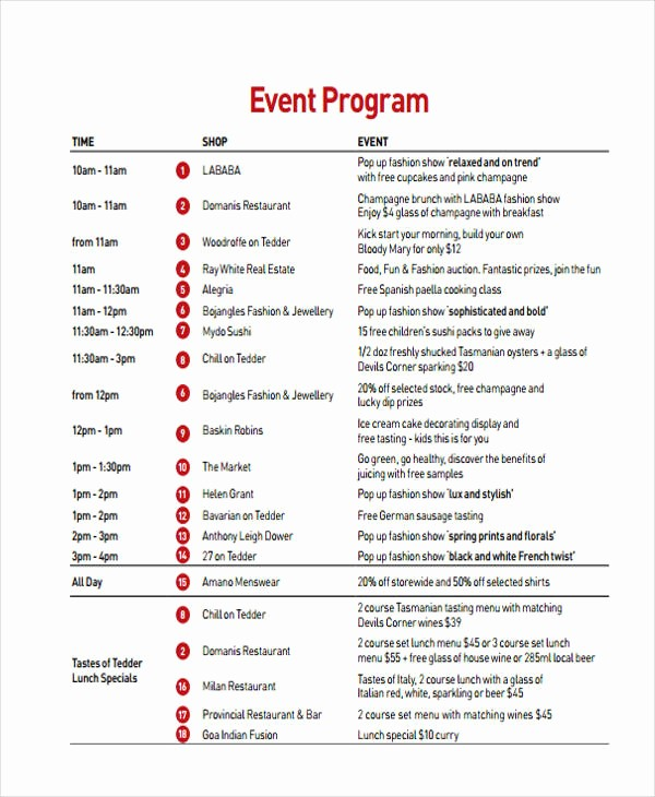 Sample Of A event Program Luxury 24 Program Examples Pdf Psd Doc