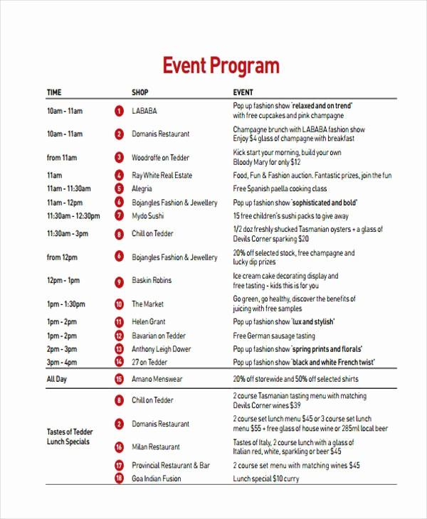 Sample Of A event Program Luxury 24 Program Examples Pdf Psd Doc