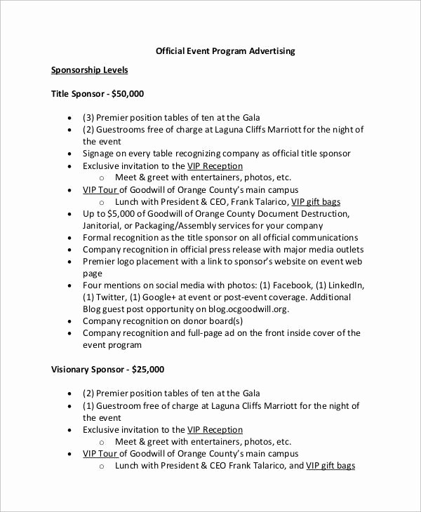 Sample Of A event Program Unique 38 event Program Templates – Pdf