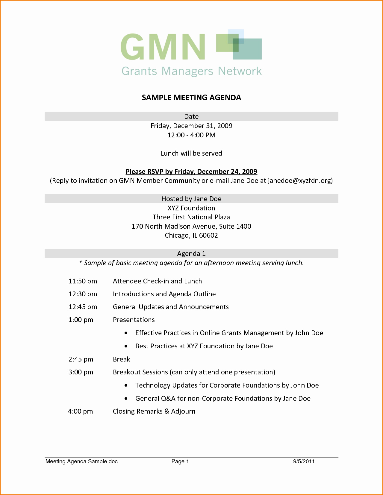 Sample Of A Meeting Agenda Awesome 7 Sample Meeting Agenda Template