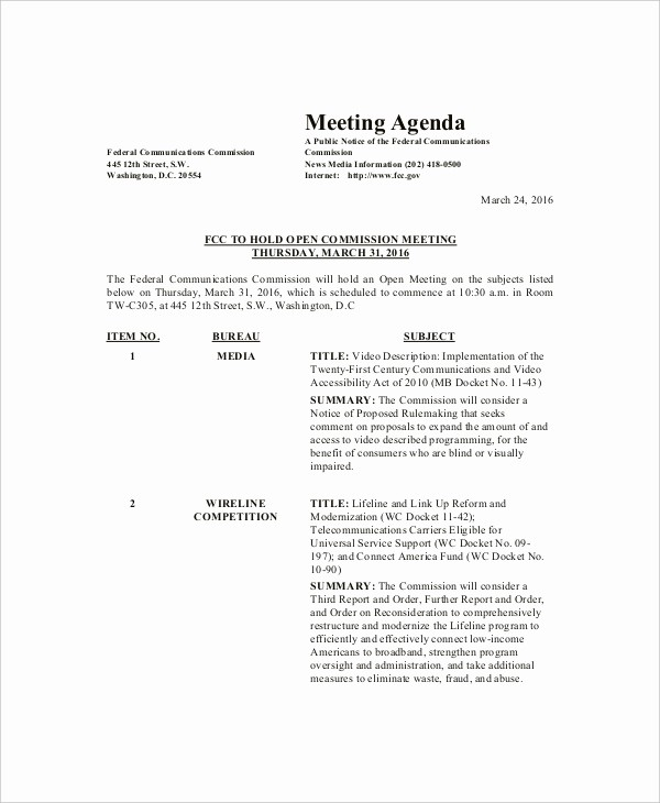 Sample Of A Meeting Agenda Awesome 8 Family Meeting Agenda Templates – Free Sample Example