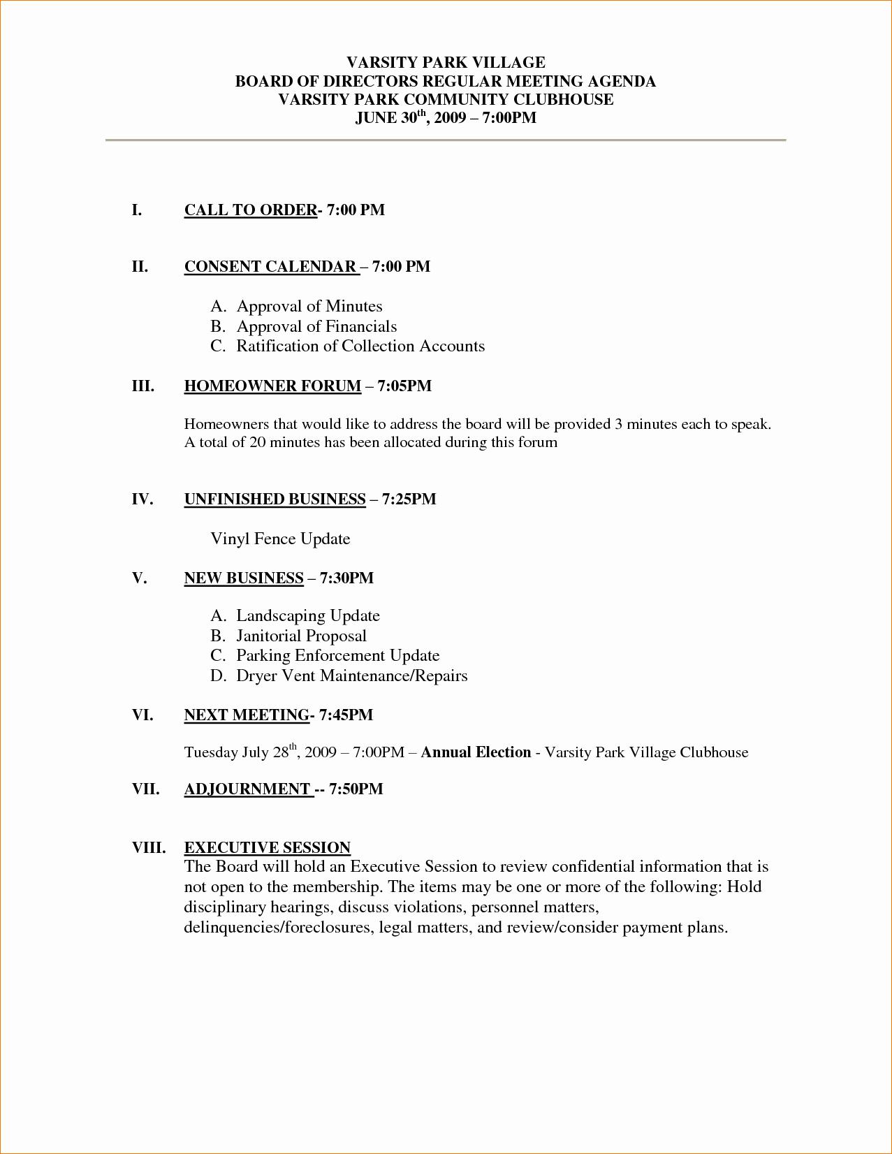 Sample Of A Meeting Agenda Beautiful 11 Meeting Agenda Sampleagenda Template Sample