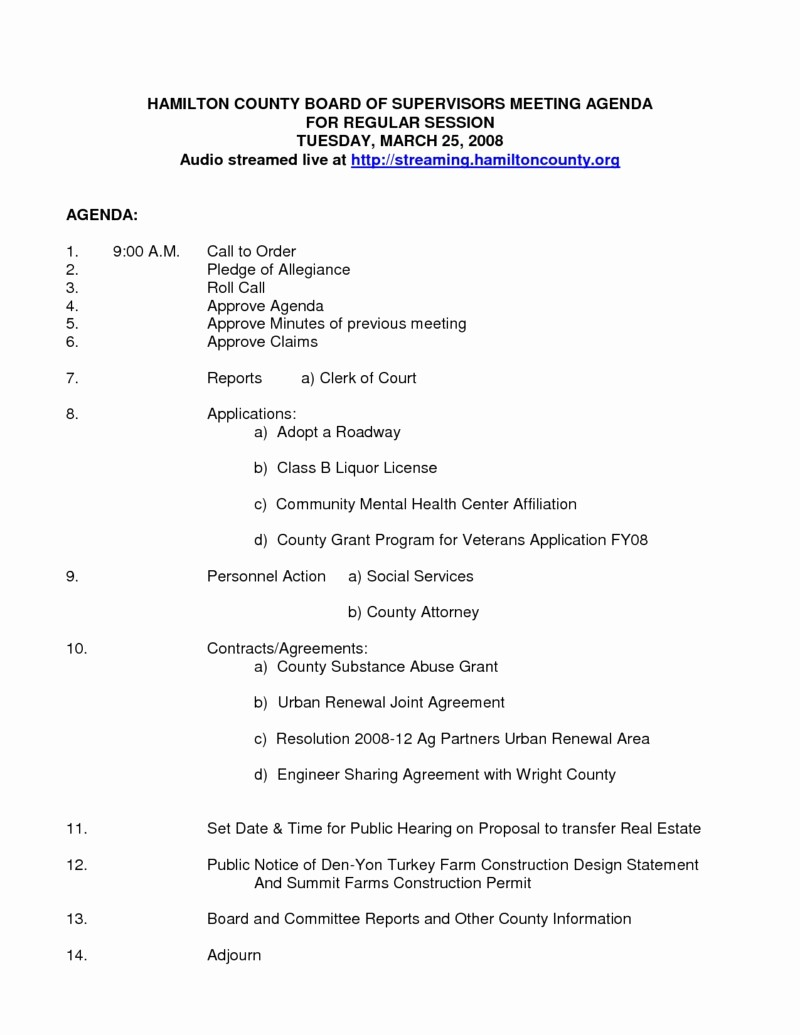 Sample Of A Meeting Agenda Elegant Nonprofit Board Meeting Agenda Template Beepmunk