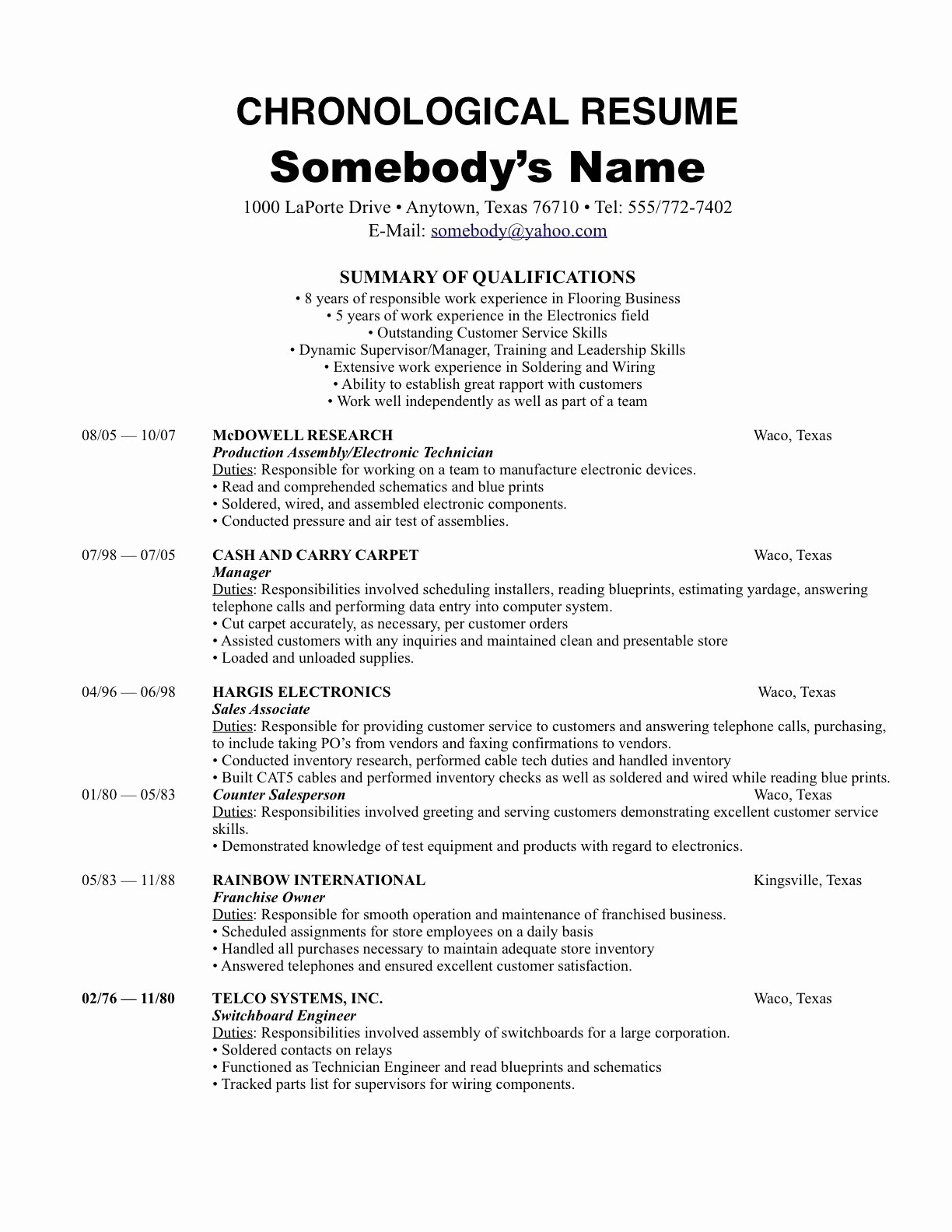 Sample Of A Simple Resume Awesome Pinterest