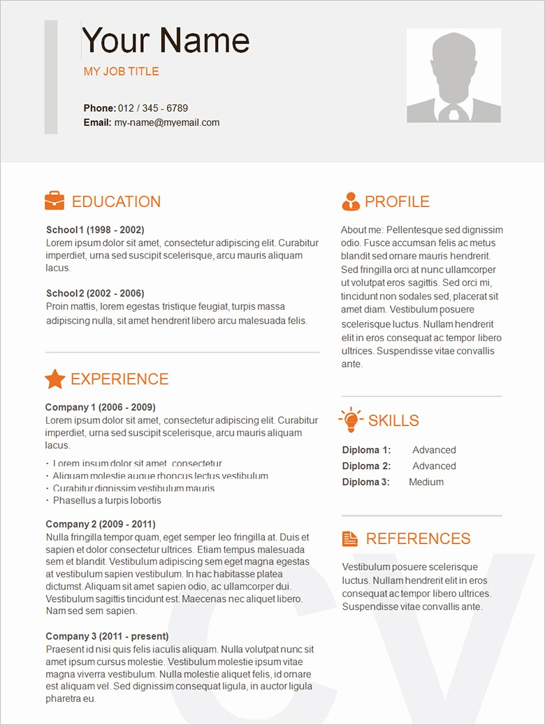 Sample Of A Simple Resume Fresh 70 Basic Resume Templates Pdf Doc Psd