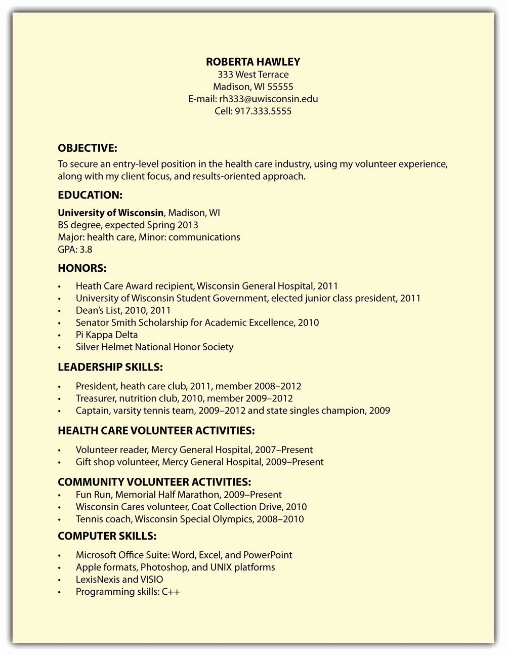 Sample Of A Simple Resume Fresh Simple Resume format Sample for Job Resumes 2426