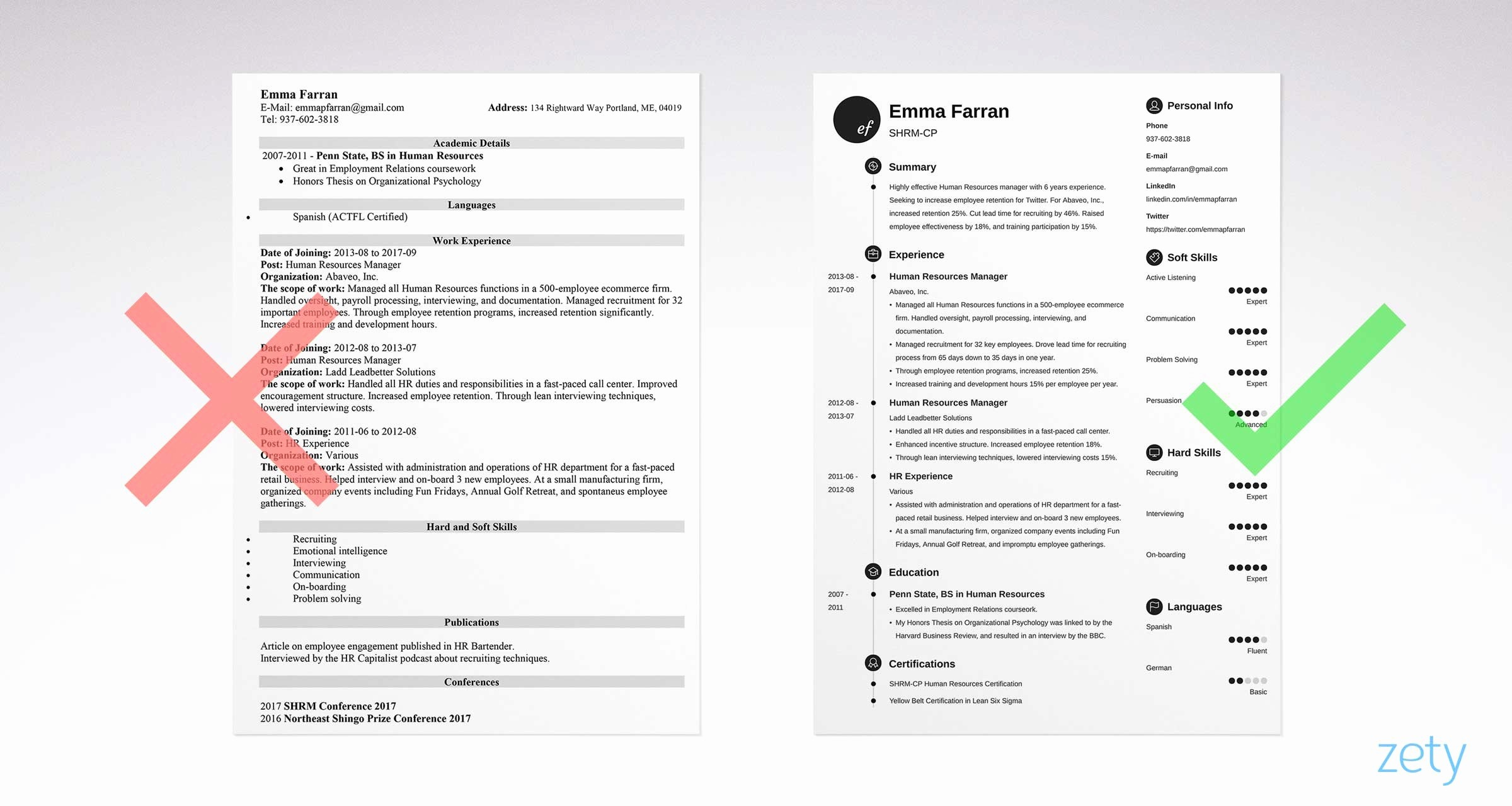 Sample Of A Simple Resume New Basic Resume Templates 15 Examples to Download & Use now